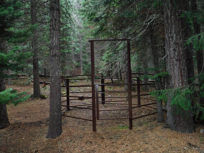 Corrals at B7Kelsay Valley Horse Camp