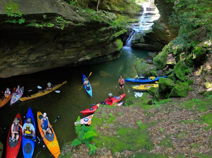 Kayaking at Grayson LakeClifty Creek Falls