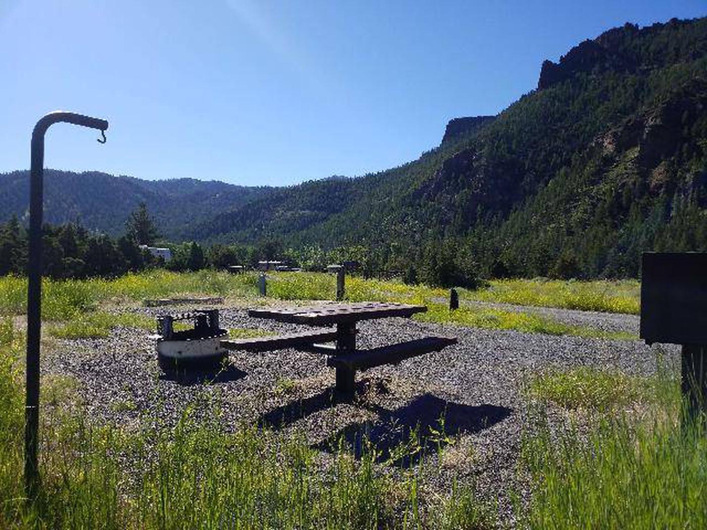 Rex Hale Campground campsite with viewRex Hale Campground Campsite