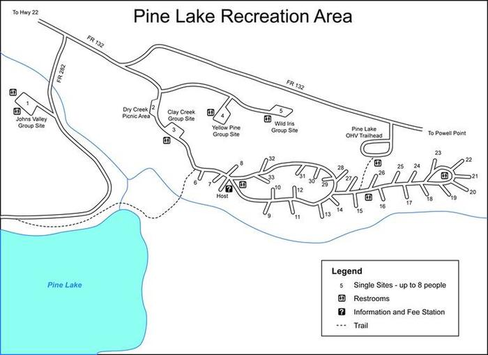 Campground mapPine Lake Campground Map