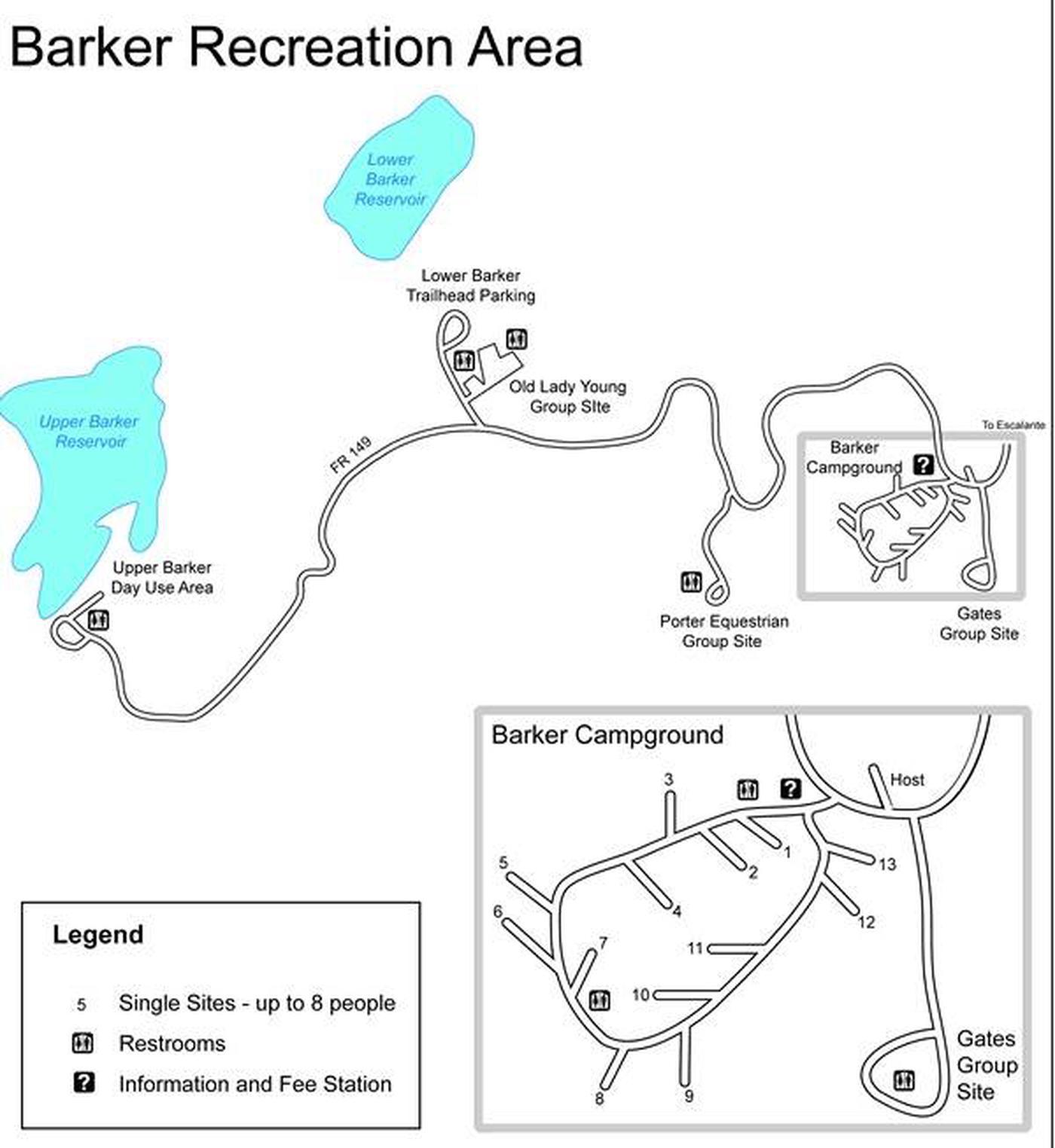 Barker Recreation Area Map