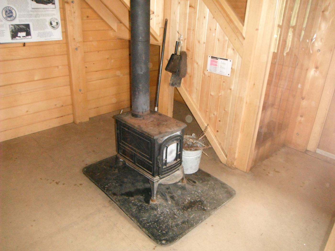 Fire place to supplement the propane heater