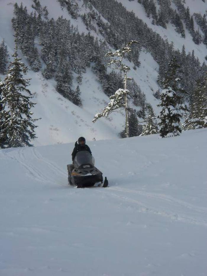 Snow machine access in the winter