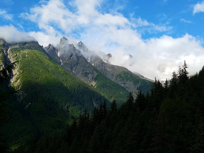 View from the Denver Glacier Trail (trail starts at Denver Caboose Cabin)