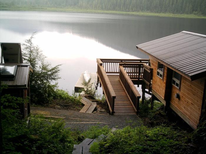 Windfall Lake Cabin over Windfall Lake