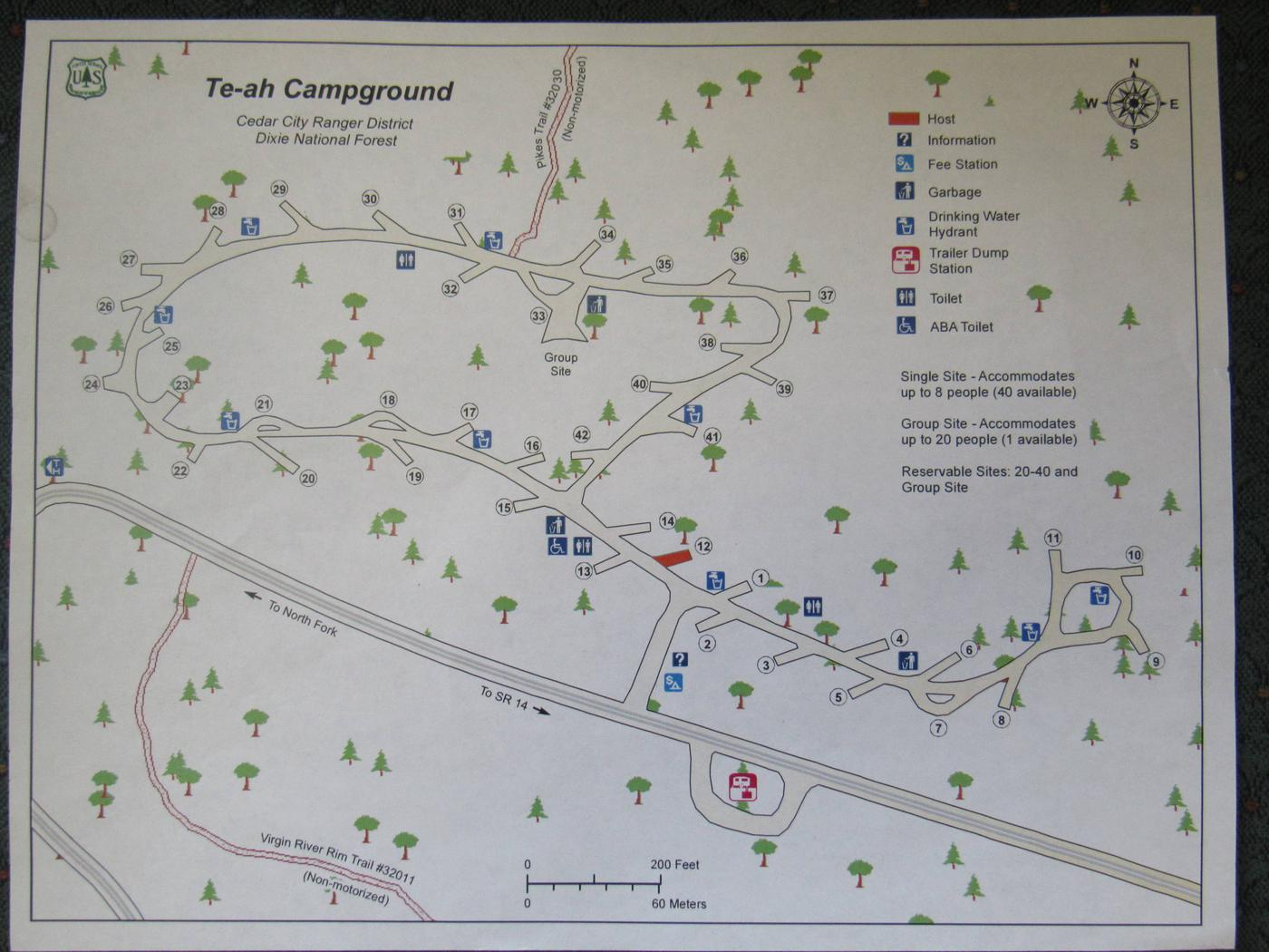 Te ah campground mapCampground Map