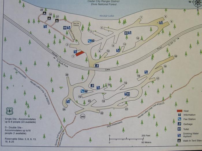 Spruces Campground map