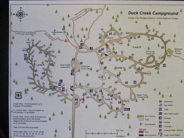 Duck Creek Campground map