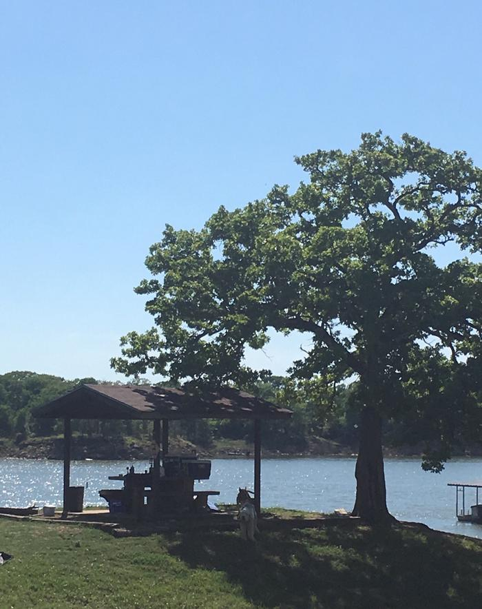 Pictured is site 32Site 32 overlooks the lake with a view of Twin Coves Marina.