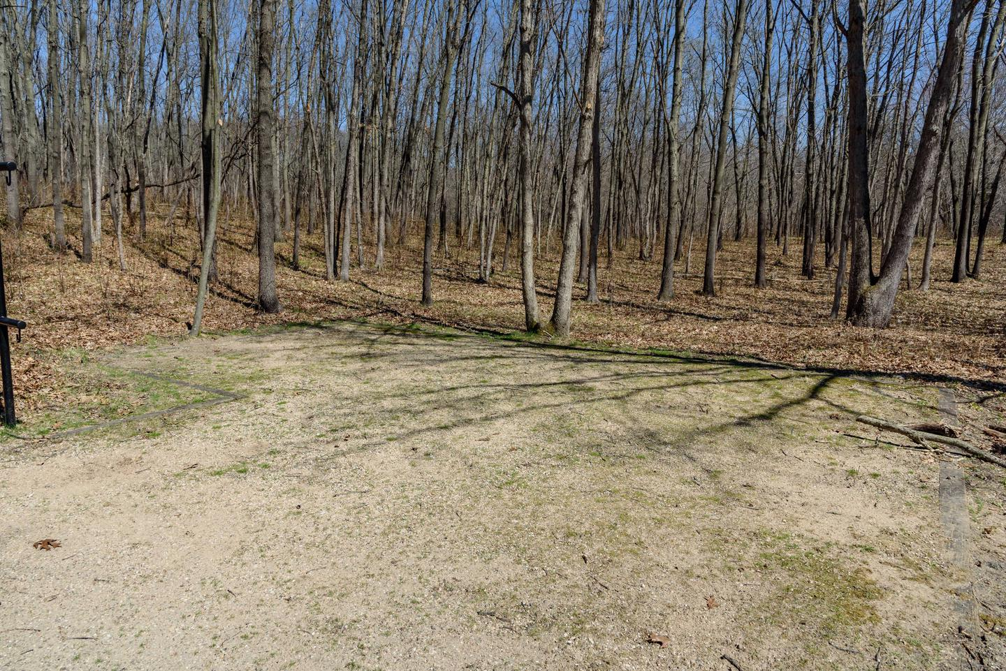 56 foot driveway with nice shaded tent pad.Campsite M4