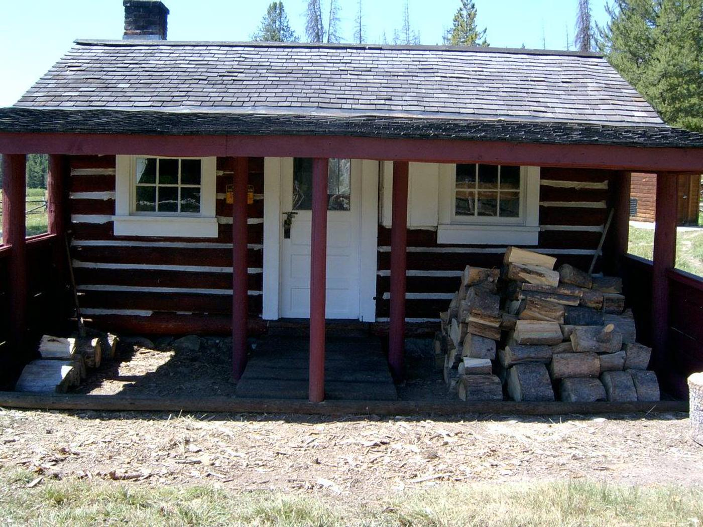 HOGAN CABINSummer - cabin in the woods.