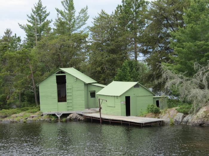Harry Oveson Fish Camp as seen from the water.Harry Oveson Fish Camp as seen from the waters of Rainy Lake.