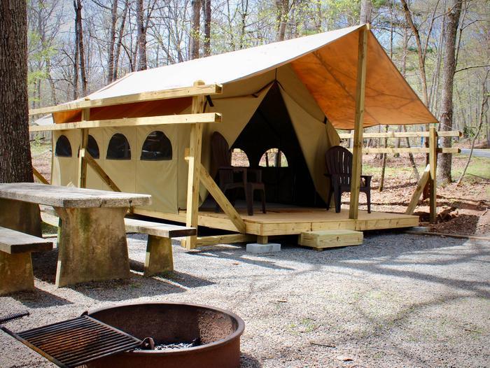 Lake Powhatan Glamping Tent