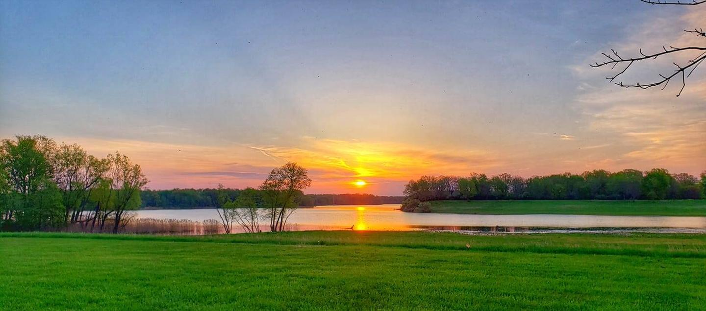 Rend Lake Sunrise at the Auxiliary Spillway