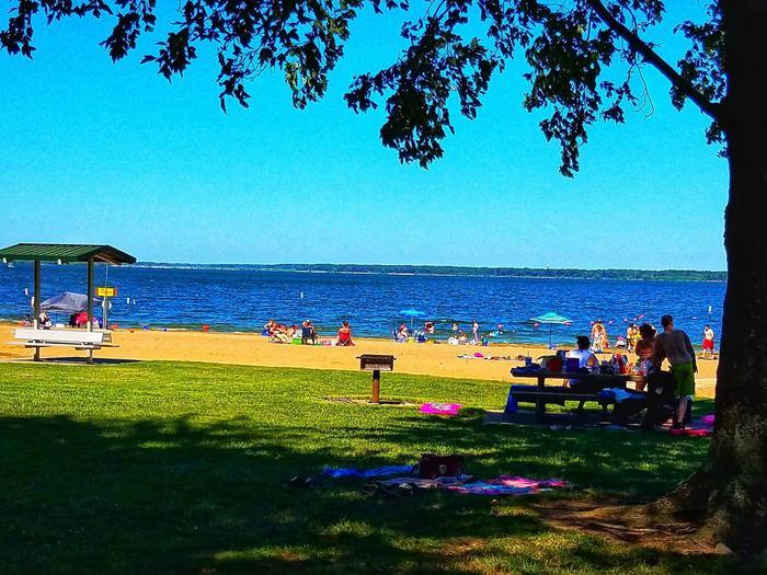 South Sandusky BeachA view of the South Sandusky Beach and picnic sites.