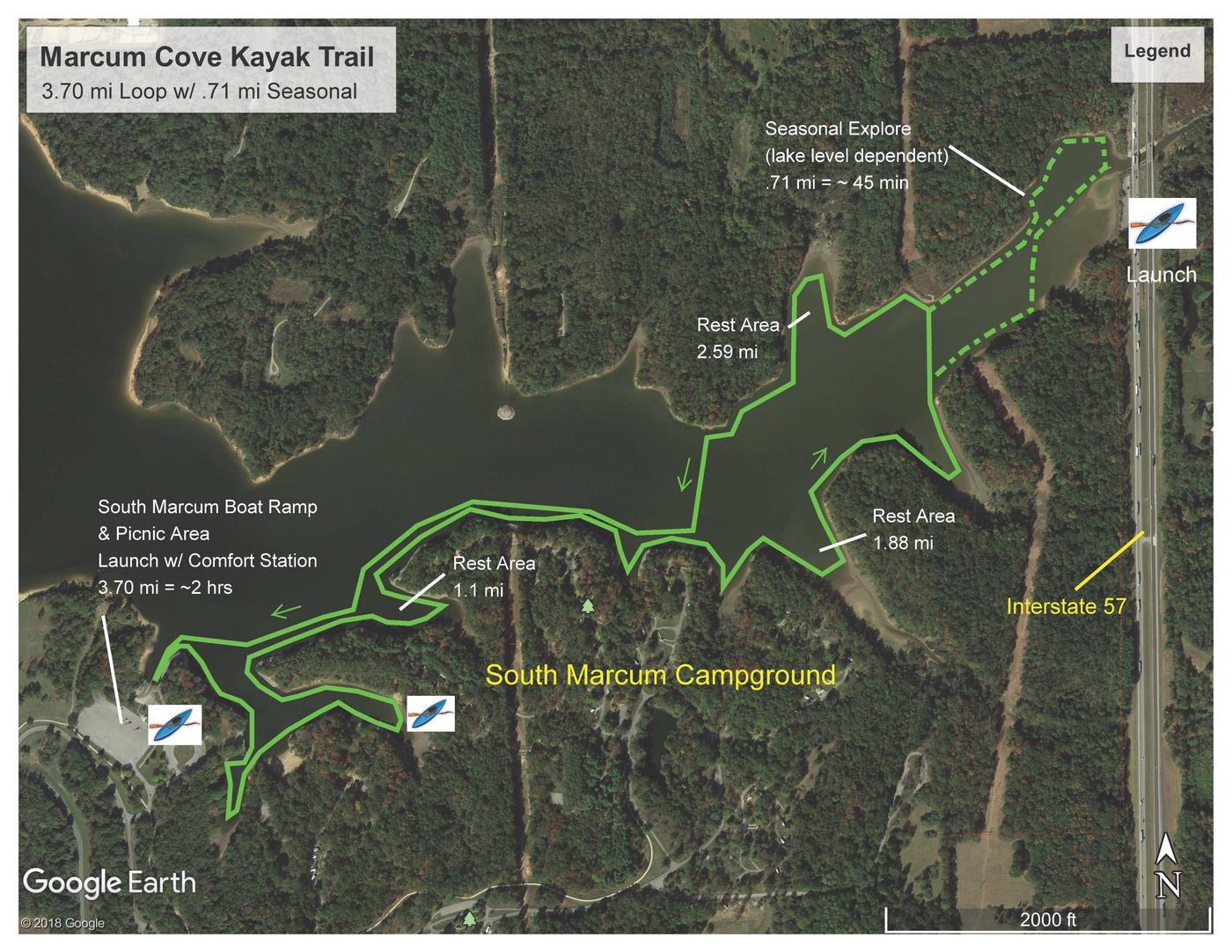 Marcum Cove Kayak Trail