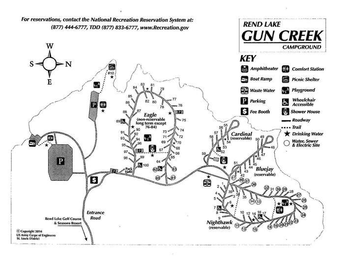 Campground MapGun Creek Campground Map