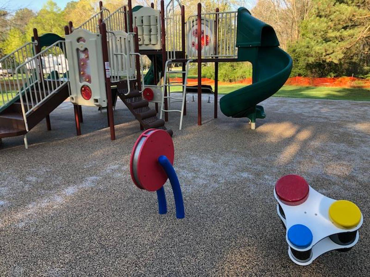 Playground Equipment located within Eagle Loop at Gun Creek Campground
