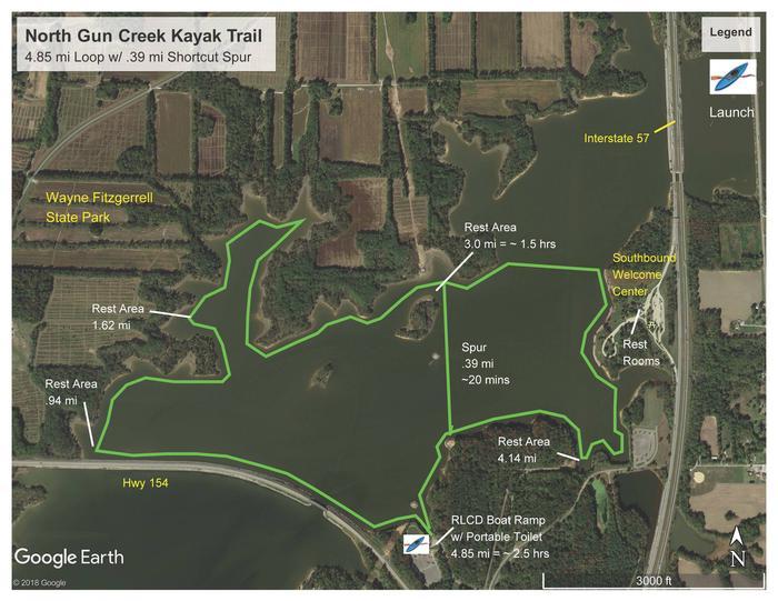 North Gun Creek Kayak Trail