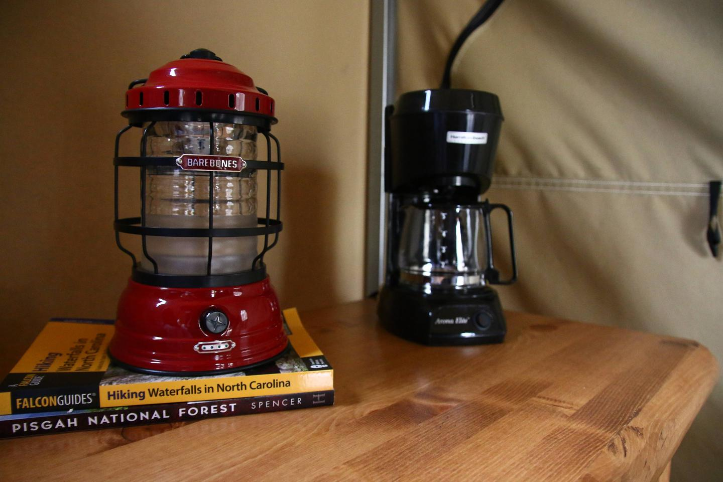 Glamping Lantern and Coffee Pot