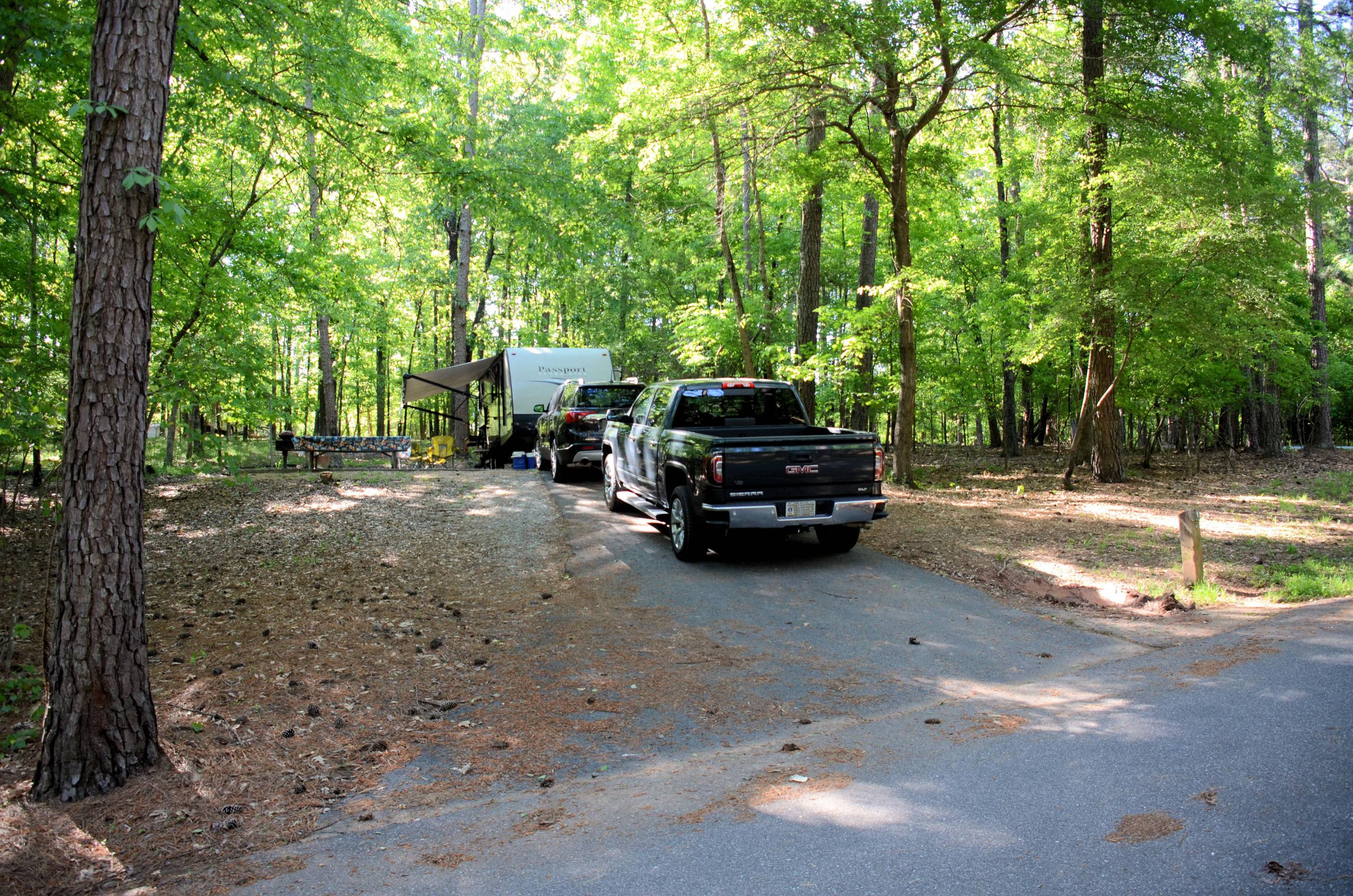 Entrance angle, awning clearanceMcKinney Campground, campsite #1