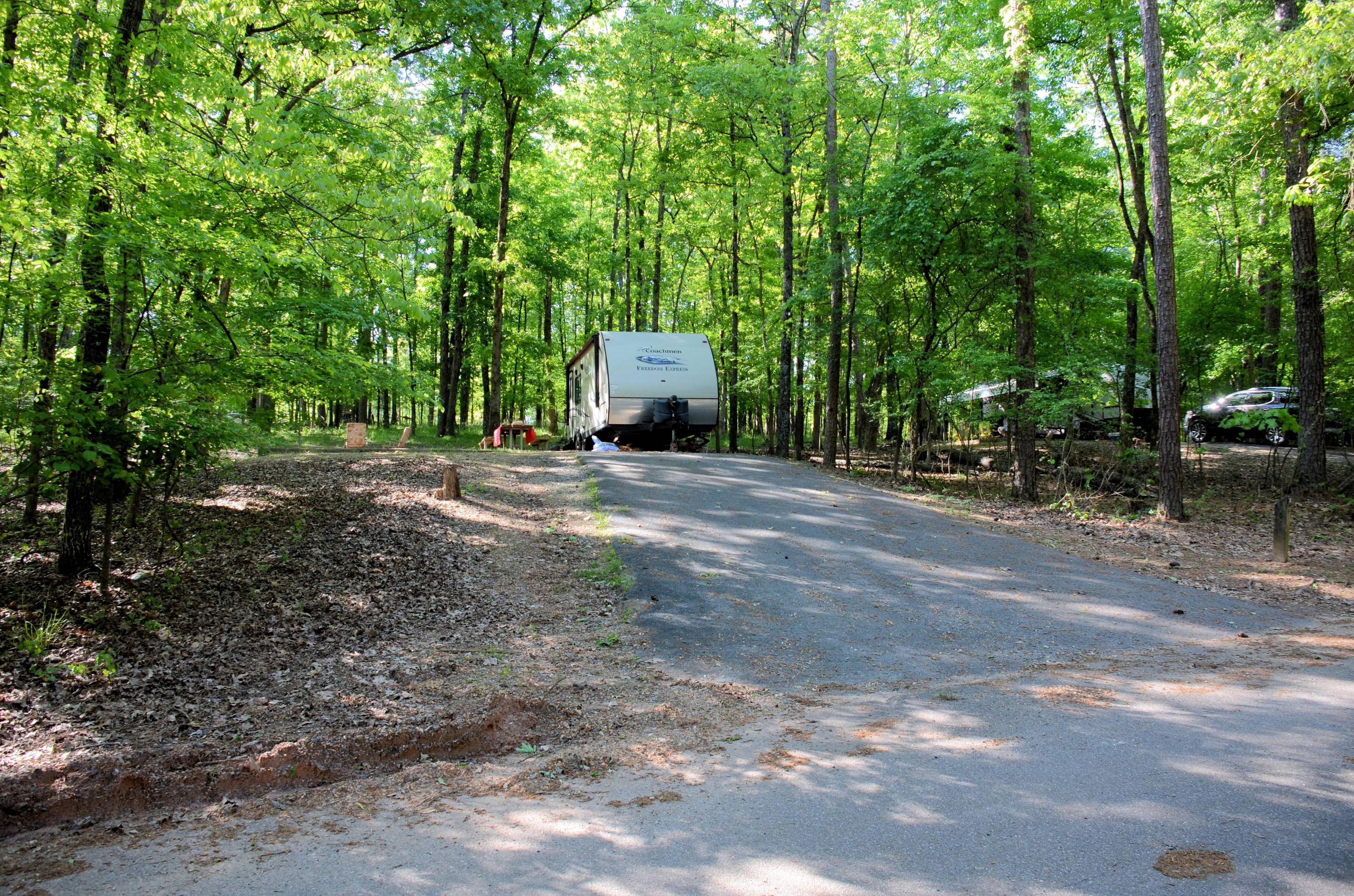 Entrance angle, driveway slope, awning clearance.McKinney Campground, Campsite #3.
