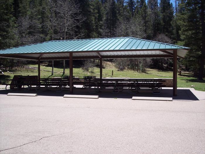 Group ramada at Black Bear Group Campground