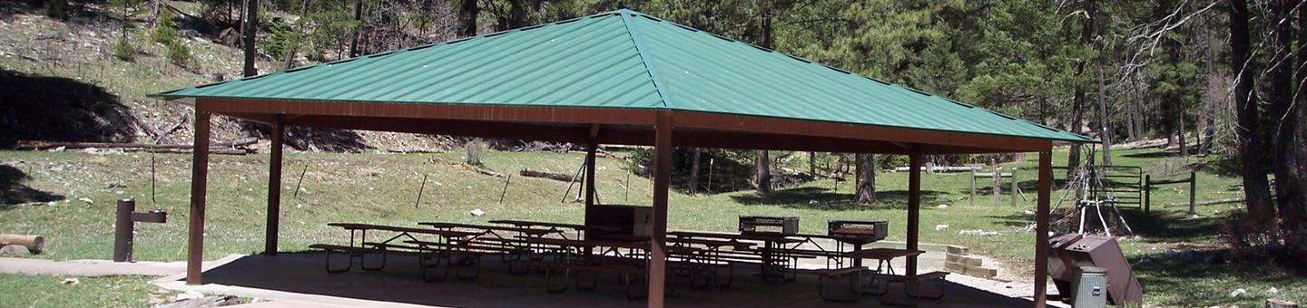 Ramada for groups at Lower Fir Group Area Campground