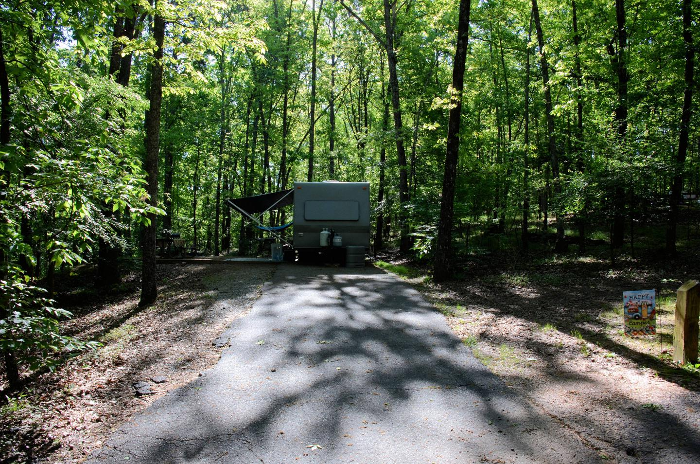 Driveway slope, awning clearance.McKinney Campground, campsite #6