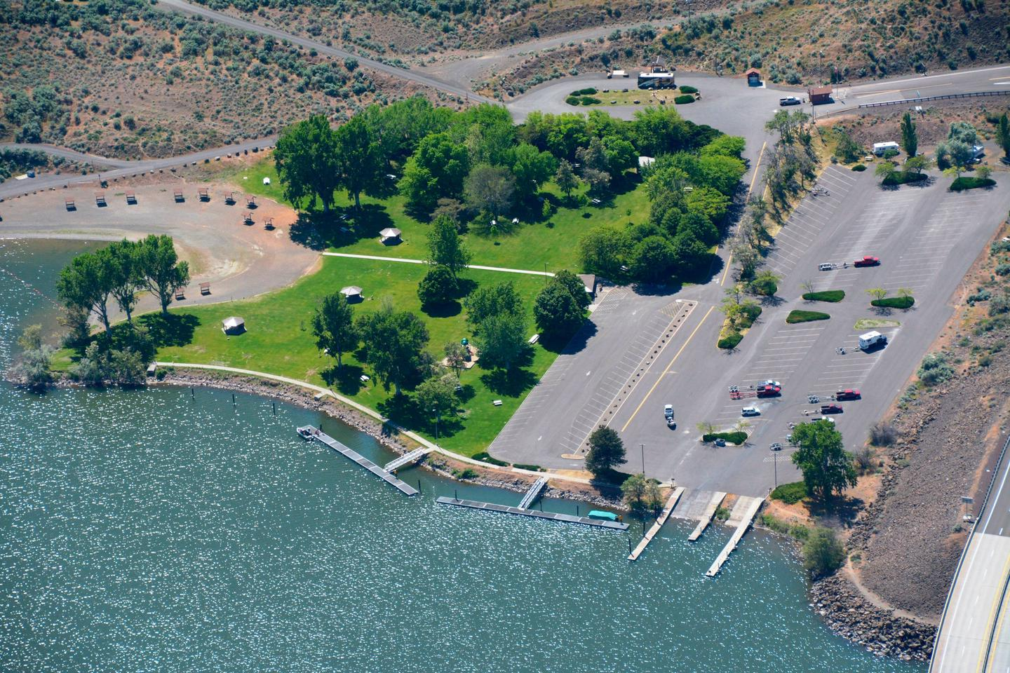 LePage Park Swim Beach, Tent Camping Area and Boat Ramp Facilities