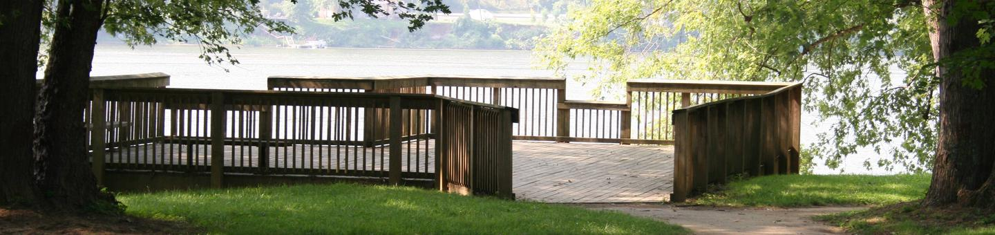 Leith Run CampgroundViewing deck at Leith Run Campground