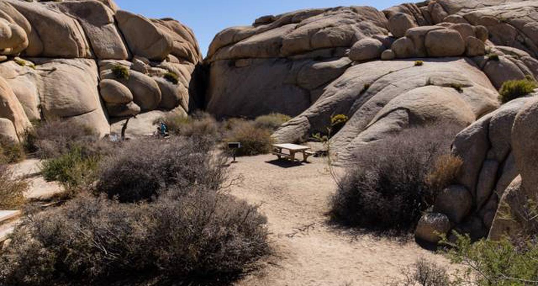 Jumbo Rocks site 5View of campsite