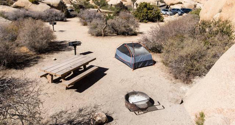 Jumbo Rocks site 6View of campsite