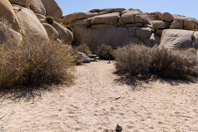 Jumbo Rocks site 6bGetting to campsite