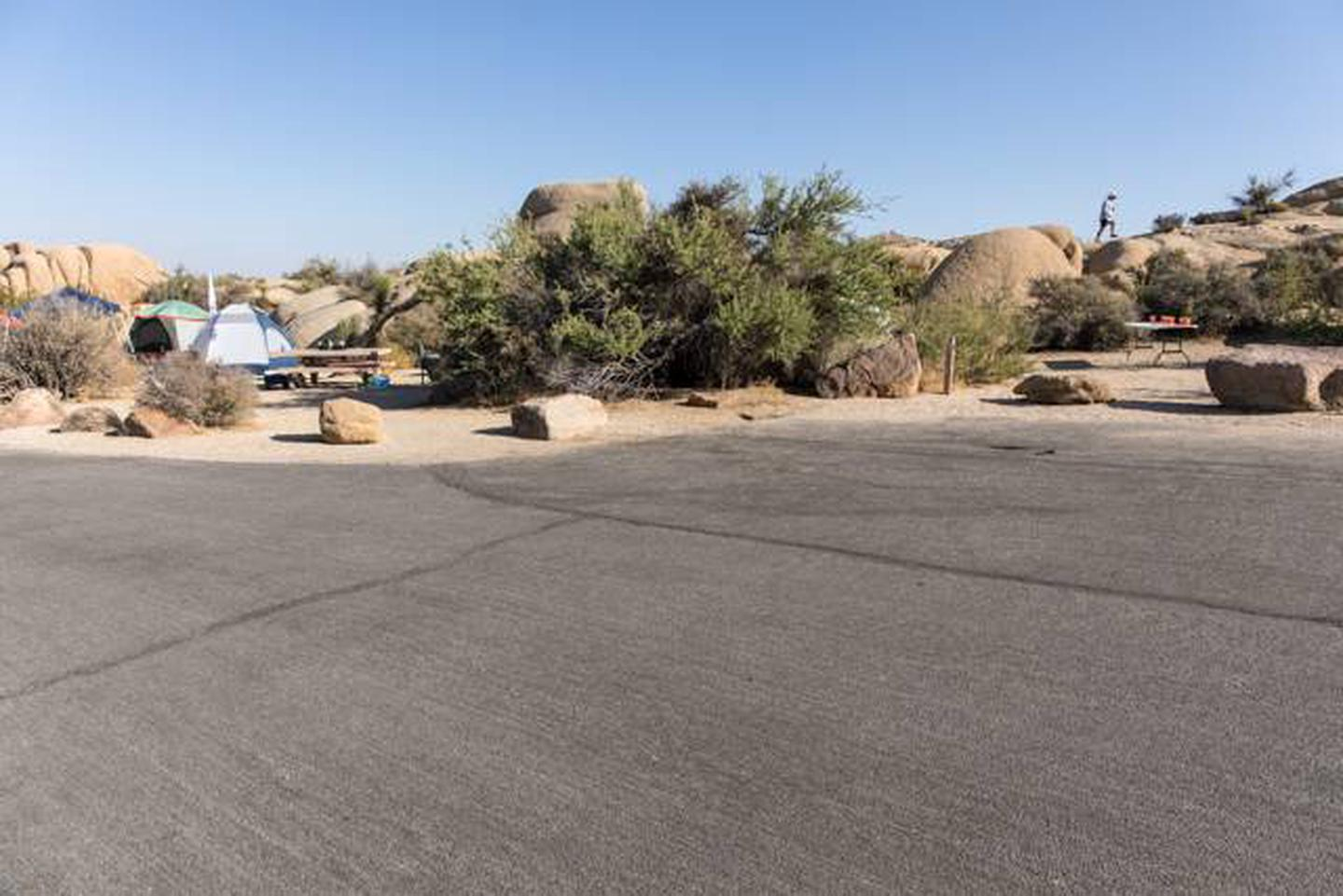 Jumbo Rocks site 22Parking space for campsite