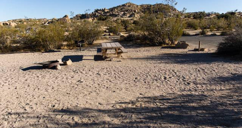 Jumbo Rocks site 45View of campsite
