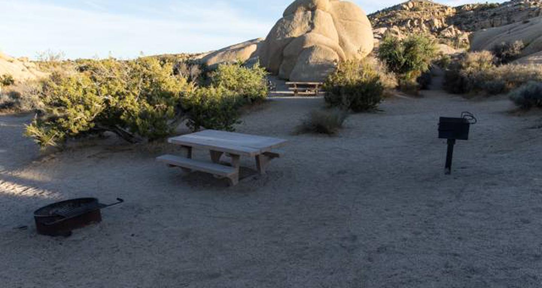 Jumbo Rocks site 55View of campsite
