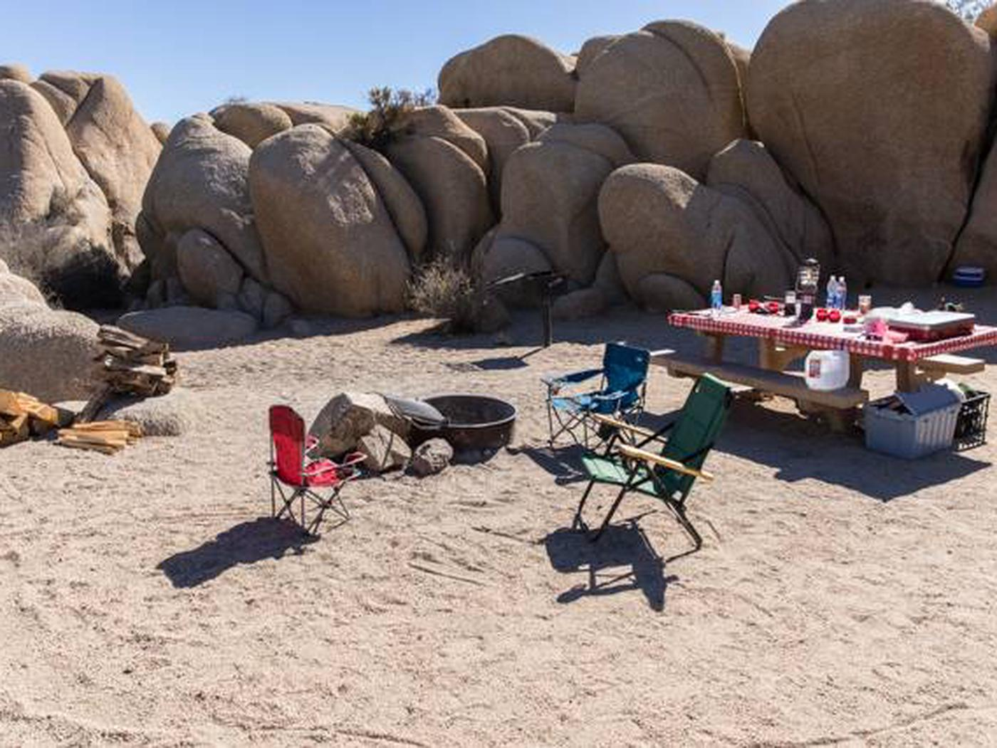 Jumbo Rocks site 64Another view of campsite