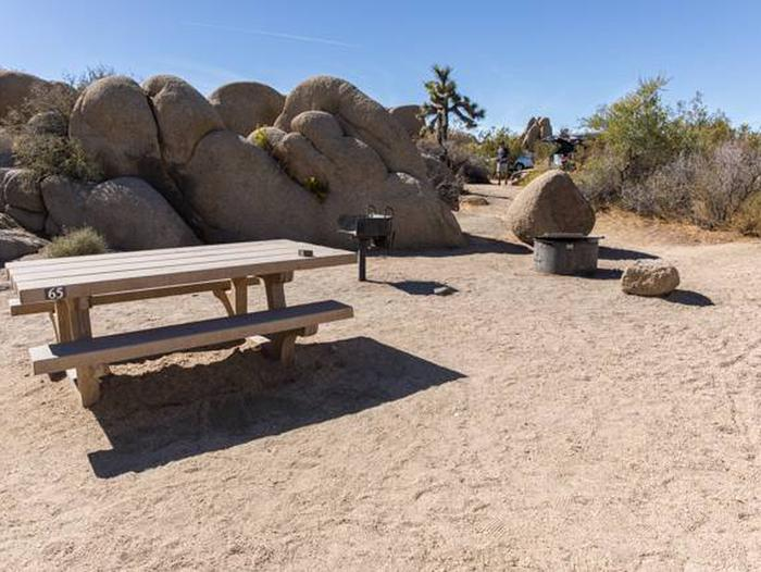 Jumbo Rocks site 65Another view of campsite