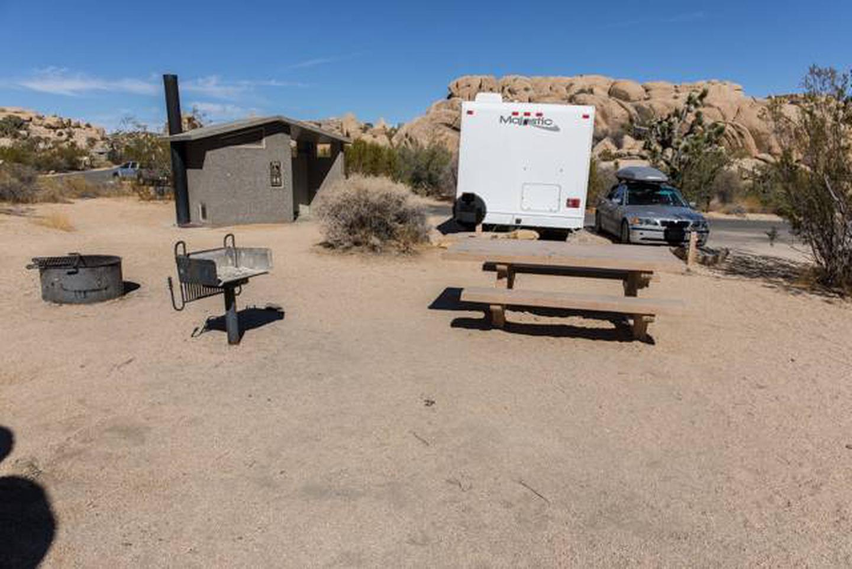 Jumbo Rocks site 65Campsite is next to restroom