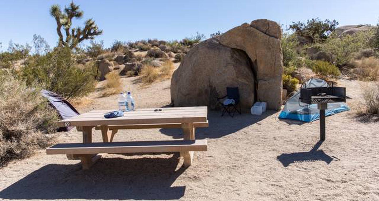 Jumbo Rocks site 69View of campsite