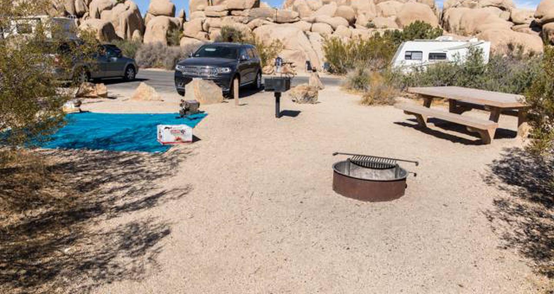 Jumbo Rocks site 70View of campsite