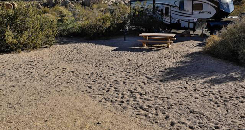 Jumbo Rocks site 83View of campsite