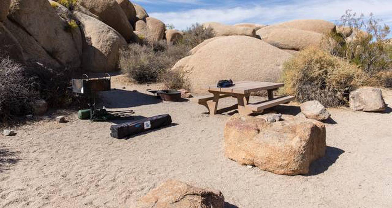 Jumbo Rocks site 91View of campsite