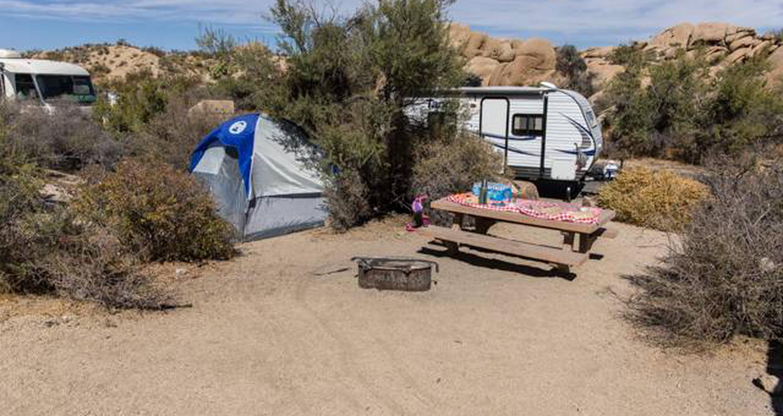 Jumbo Rocks site 92View of campsite
