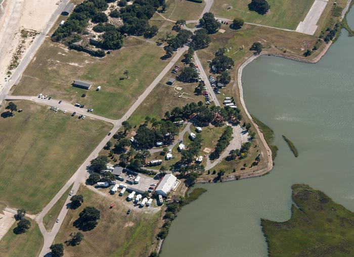Aerial view of Colonies RV and Travel Park