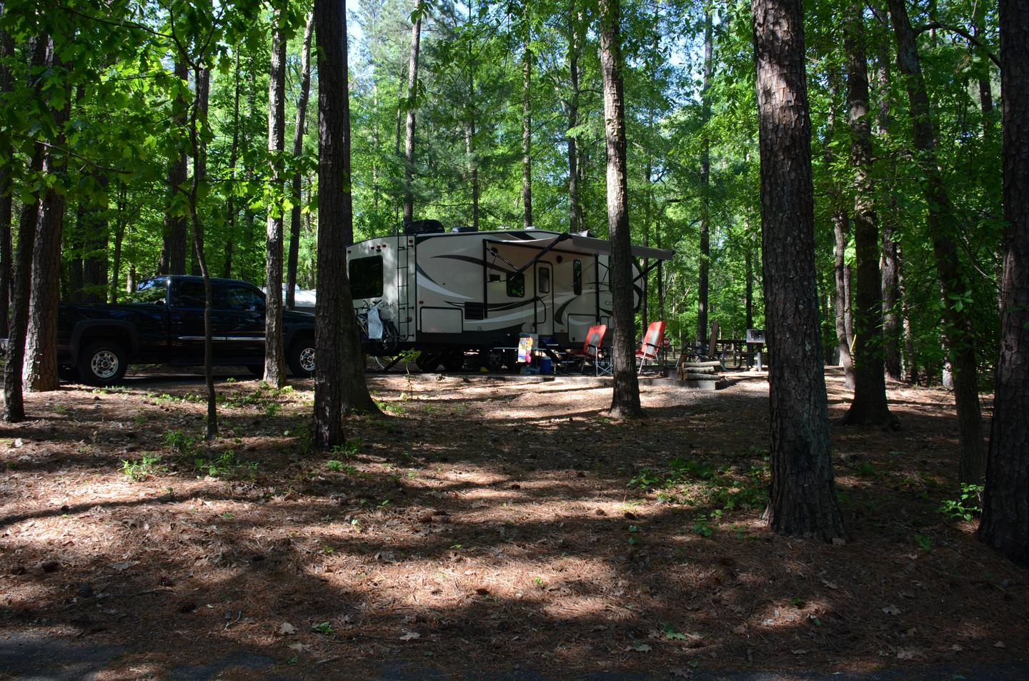 Awning clearanceMcKinney Campground, campsite 19