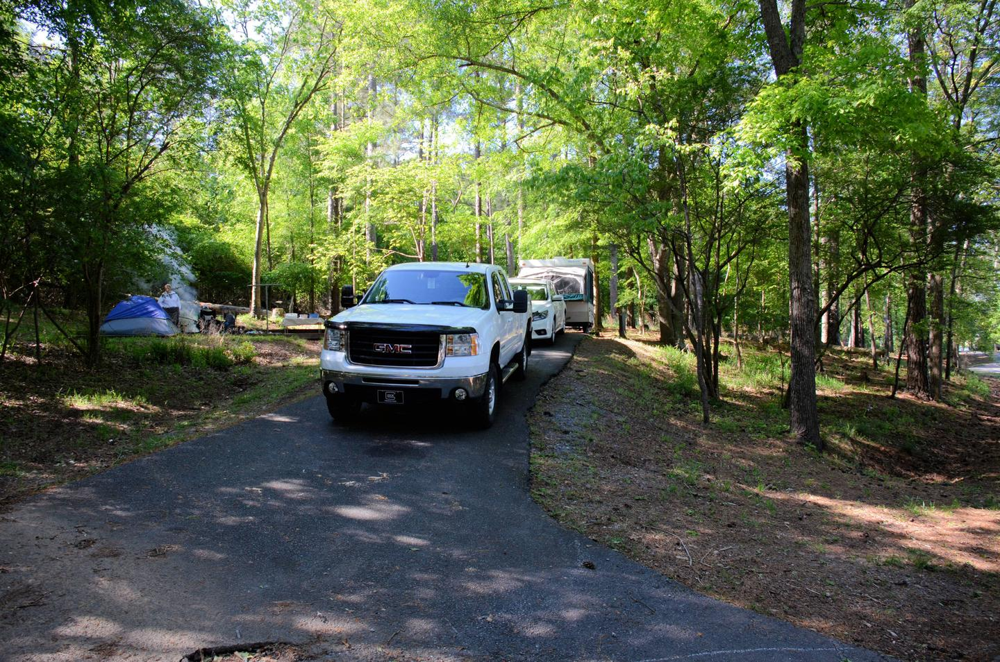 Driveway, utilities-side clearance.McKinney Campground, campsite 30.