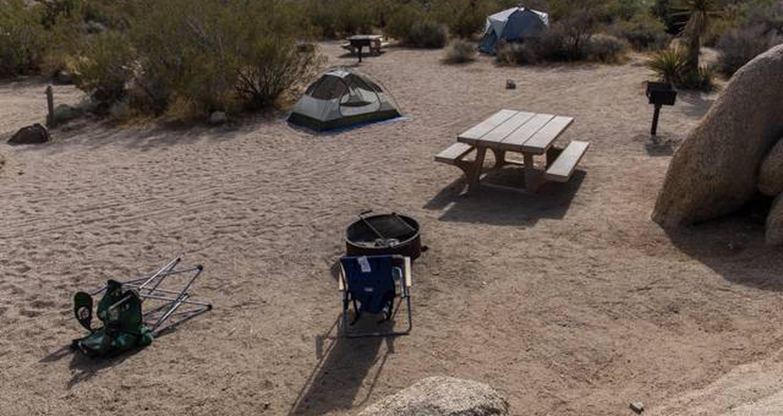 Jumbo Rocks site 105View of campsite