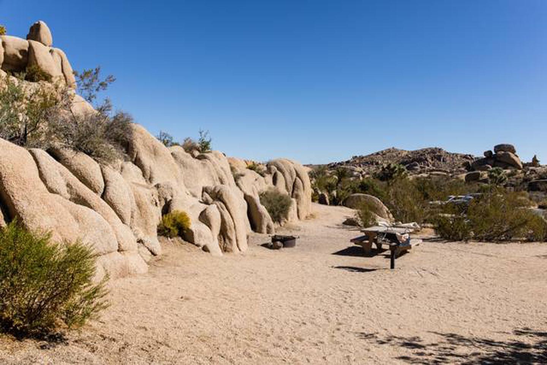 Jumbo Rocks site 115Campsite